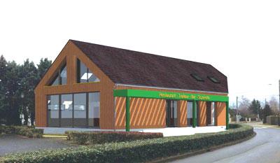Schéma du futur bâtiment